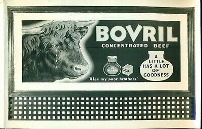 1938 THREE (3) VINTAGE & ORIGINAL PHOTOS OF OLD BILLBOARD ADVERTISING OF BOVRIL