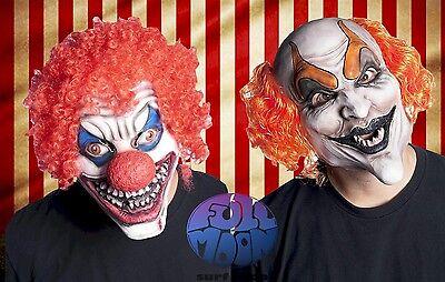 New Devilish Clown Mask Circus Carnival Evil Creepy Scary Halloween Costume ](Scary Halloween Carnival)