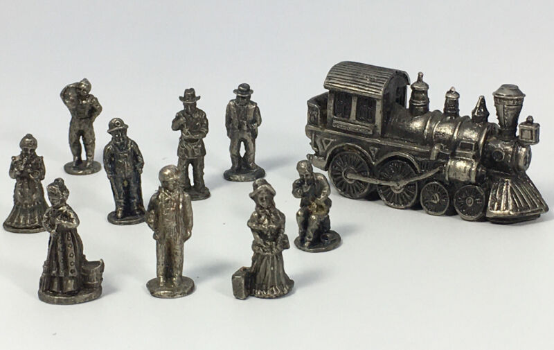 IRS China Metal Train Collectables  9 People And One Train.