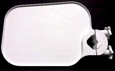 Tpc Pole Post Mount Utility Access Shelf Tray Table Dental Medical White