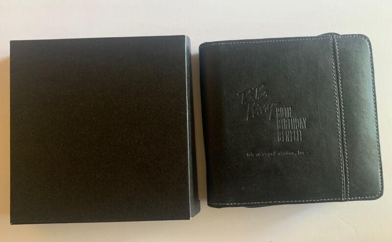 B.B. King Vintage 2005 80Th Birthday Cd Holder Carry Case New Rare