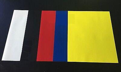 Heat Transfer Vinyl 5-color Starter Bundle Silhouette Cameo Cricut Easy Weed