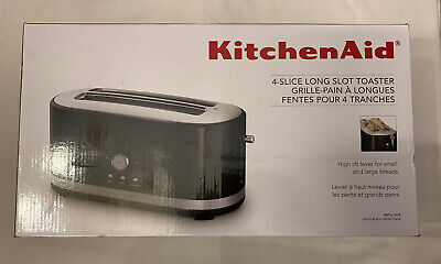 KitchenAid 4 Slice Long Slot Toaster with High Lift Lever - New - Onyx Black