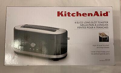 KitchenAid 4 Slice Long Slot Toaster with High Lift Lever - New - Onyx Black