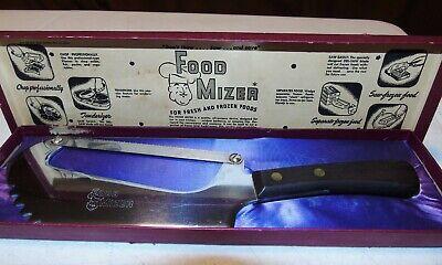 Food Mizer Butcher Knife Bone Saw & Meat Cleaver Vintage W/ Original -