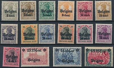 [2074] Belgium 1916 good Set very fine MH Occupation Stamps Value $204