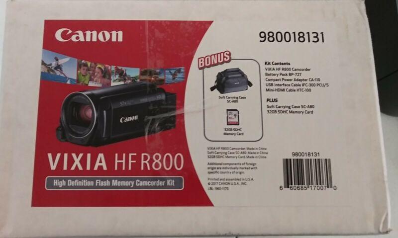 Canon Vixia HF R800 High Definition Flash Memory Camcorder Kit FREE SHIPPING!