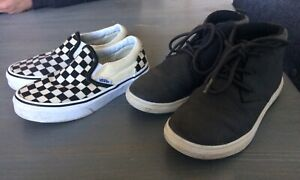 7 pairs of boys shoes