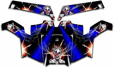 Polaris RZR 900 XP UTV Wrap Graphics Decal Kit 2011-2014 Pyro The Clown Blue