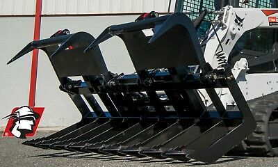 84 Heavy Duty Dual Cylinder Grapple Bucket For Bobcat Machines