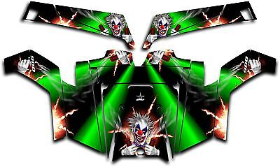 Polaris RZR 900 XP UTV Wrap Graphics Decal Kit 2011-2014 Pyro The Clown Green