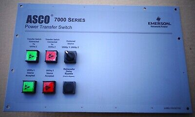 Asco 7000 Series Auto Power Transfer Switch Panel - Great