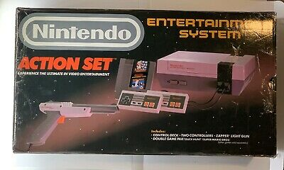 Vintage Original Nintendo Entertainment System NES Action Set BRAND NEW SEALED