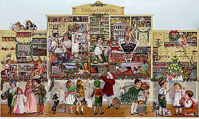 Das Weihnachtslädchen Adventskalender Prächtiges Triptychon z.Aufstellen Glimmer