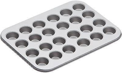 Kitchen Craft Non Stick 24 Mini 4cm Hole Canape Tart Tartlet Baking Sheet Tray