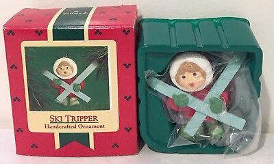 New in Box! Rare! 1986 Ski Tripper ~Vintage Hallmark Christmas Tree Ornament