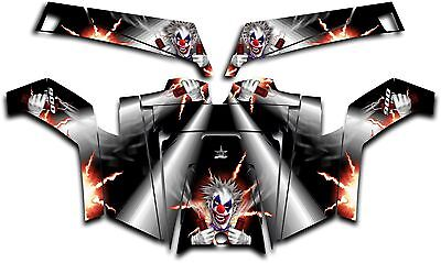 Polaris RZR 900 XP UTV Wrap Graphics Decal Kit 2011-2014 Pyro The Clown White