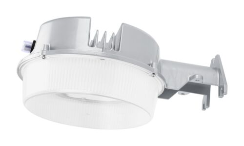 LED Street Barn Light 40 Watt Silver Photocell, Security Dusk to Dawn 120-277V
