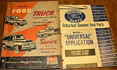 1949 1950 1951 1952 1953 1954 1955 Ford Truck Parts Catalogs F-100 F-250 F-350