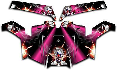 Polaris RZR 900 XP UTV Wrap Graphics Decal Kit 2011-2014 Pyro The Clown Pink