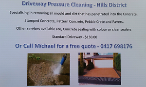 Water pressure cleaning driveways etc. Kellyville The Hills District Preview