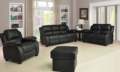 Valerie  3+2+1 SEATER LEATHER SOFAS BLACK BROWN CREAM SOFA SET