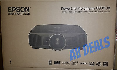 Epson PowerLite Home Cinema 6030UB Projector with (2) 3D Glasses & FULL WARRANTY