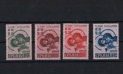 Serbia Serbien ww2 German occupation - complete set