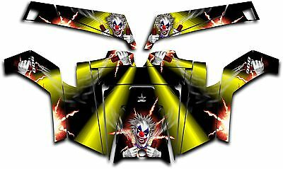 Polaris RZR 900 XP UTV Wrap Graphics Decal Kit 2011-2014 Pyro The Clown Yellow
