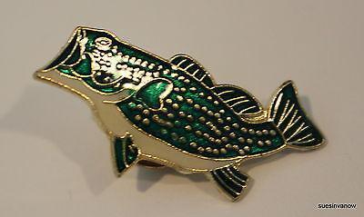 Bass Fish Lapel Hat Pin Sport man Tie tack Fisherman