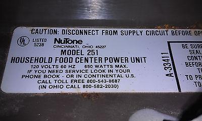 Nutone Model 251 Control Knob Repair Service | Wundr-Shop