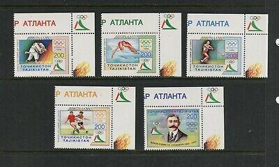 F251  Tajikistan  1996   Olympics   5v.    MNH