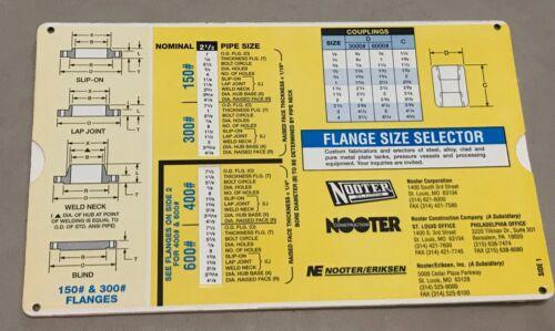 Nooter Flange Size Selector, 1995, Two-sided Slide