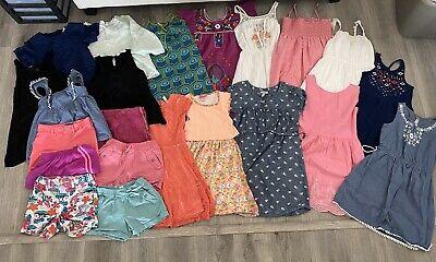 22 Pc Lot Of Girls Summer Clothes Shorts Dresses Blouses Sz M 7/8 - L 10/12