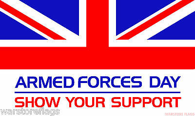 ARMED FORCES DAY 5X3 FEET FLAG Polyester fabric BRITISH ARMY MILITARY NAVY RAF
