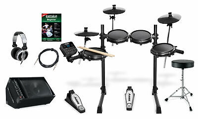 Alesis Turbo Mesh E-Drum Kit Schlagzeug Set Drum Monitor Kopfhörer Hocker Kabel