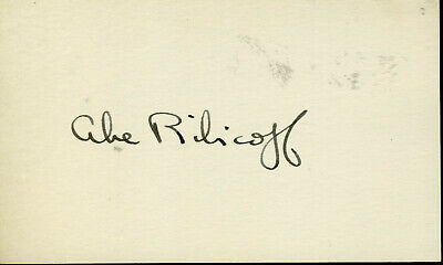 ABE RIBICOFF SEC HEW FOR JFK SIGNED 3C5 CARD (X701)