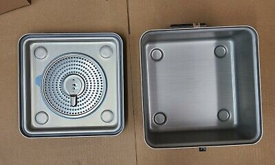 Case Medical Solid Bottom Sealed Sterilization Container Lid 12.3 X11 X6 Sc06h