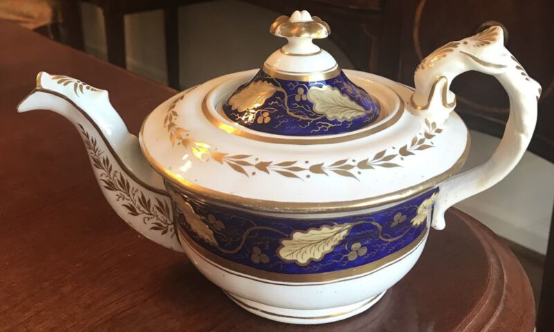 New Hall English Antique Teapot c. 1820