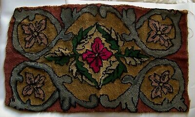 """Antique - Early 20th century Canadian hook rug - 38"""" x 22"""" for sale  Montreal"""