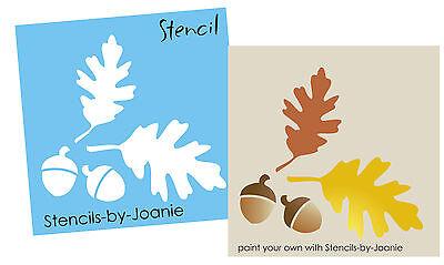 Joanie Sm Stencil Fall Oak Leaves Acorn Autumn Harvest Prim Market Garden Sign