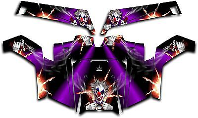 Polaris RZR 900 XP UTV Wrap Graphics Decal Kit 2011-2014 Pyro The Clown Purple