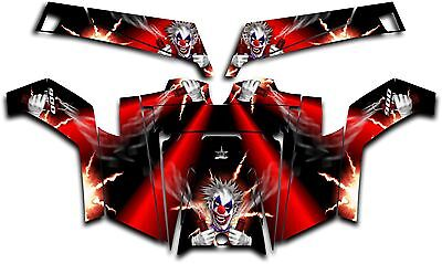 Polaris RZR 900 XP UTV Wrap Graphics Decal Kit 2011-2014 Pyro The Clown Red