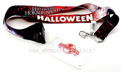 NEW Universal Studios Hollywood Halloween Horror Nights Lanyard w/ Badge Holder - Universal Studio Hollywood Halloween
