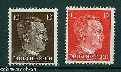 Deutsches Reich 826 - 827 , ** , o , Freimarken Adolf Hitler