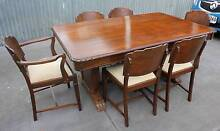 Art Deco 6 Seater Table with Chairs (0311) LOCATED AT GRANGE Thebarton West Torrens Area Preview
