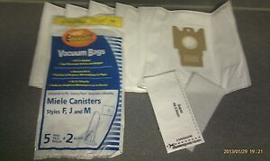 10 Miele FJM Micro filtration Vacuum Bags & 4 Filters BRAND NEW & SEALED!!