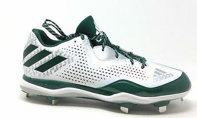 Adidas Mens Power Alley 4 Baseball Cleat Shoe Dark Green White Size 14 M US ()