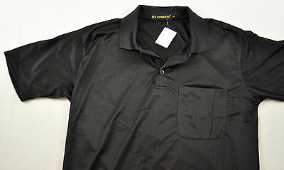 men's By Joseph short sleeve shirt size small black check collar polyester -