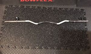 Preacher Curl Bar / EZ Curl Barbell with clips    $25